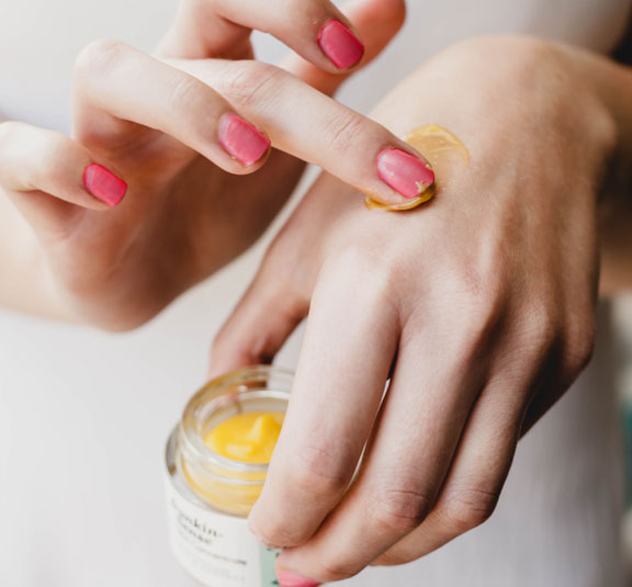 Frankincense Organic Moisturiser | Hydrating Face Cream | On Hands | Awake Organics | Image