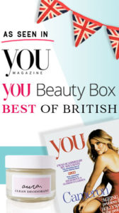 As Seen in You Magazine. You Beauty Box. Best of British. Aura Clean Deodorant. Natural Deodorant That Works. Organic. By Awake Organics. Press. New. YouMagSocial. Daily Mail Online. Sunday Mail.