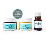 Mini, Sample, Gift, travel size. Frankin-Sense Rejuvenating Organic Face Serum + Cream. Aluminium free Natural Deodorant. Dead Sea Mud Detox Face Mask. Made with natural anti anxiety, antidepressant essential oils. Anti-ageing moisturiser, for younger looking Skin. Pure and natural. Made with Babassu Kernel, Frankincense, Cannabis (Hemp), Seabuckthorn, Rosehip, Camellia Tea, Carrot Seed. Consciously Made in England.