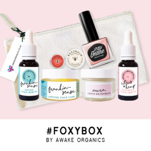 Foxy Box. Shop 100% Natural Organic Cosmetics by Awake Organics. Made in England. The Best British Face Serum. Organic, Pure Ingredients, Vegan. Sea Buckthorn, Rosehip, Carrot Seed, Rose Geranium, Waterless Skin Care, anti-aging, anti-wrinkle, glowing skin, healthy skin, beautiful skin, younger looking skin. Christmas Gift Ideas. Gifts For Her. Gift Ideas.