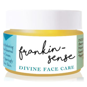 Frankincense face cream for dry and mature skin. Frankin-Sense Rejuvenating Organic Face Cream. Made with natural anti anxiety, antidepressant essential oils. Anti-ageing moisturiser, for younger looking Skin. Pure and natural. Made with Babassu Kernel, Frankincense, Hemp, Seabuckthorn, Rosehip, Camellia Tea, Carrot Seed. Consciously Made in England.