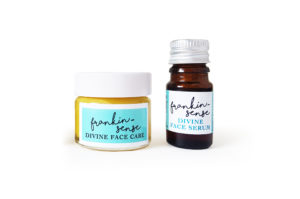 Frankin-Sense Rejuvenating Organic Face Cream and Organic Face Serum. Anti-ageing, for younger looking Skin. Pure and natural. Made with Frankincense, Hemp, Seabuckthorn, Rosehip, Camellia Tea, Carrot Seed. Consciously Made in England. Dry skin. Mature skin. Winter skin. Ethical gift ideas. Christmas Gift Ideas. Gifts For Her. Gift Ideas.