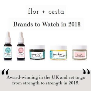 Flor + Cesta Press. As Seen in Vegetarian Living Magazine. Best of British. Melissa Kimbell. Ethical Beauty Brand skin care and natural deodorant That Works. Organic. Aromatherapy. By Awake Organics. Press. New.