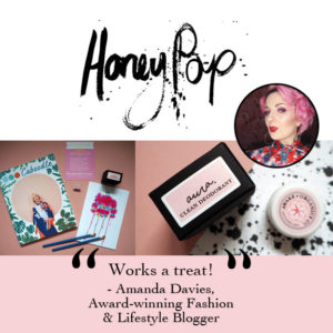 Award-Winning, Organic Aura Clean Deodorant. Natural Deodorant That Works. Organic. By Awake Organics. Natural Deodorant UK, Natural Deodorant for Women. Honeypop blog feature.