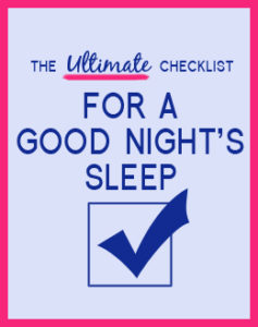 Ultimate Checklist for a good night's sleep. Can't sleep, trouble sleeping, how to sleep through the night, tips for better sleep, insomnia Specialist, Kathryn Pinkham. Can't sleep, could be for hormones. Menopause and sleep. By Awake Organics natural skin care and natural deodorant. Made in England.