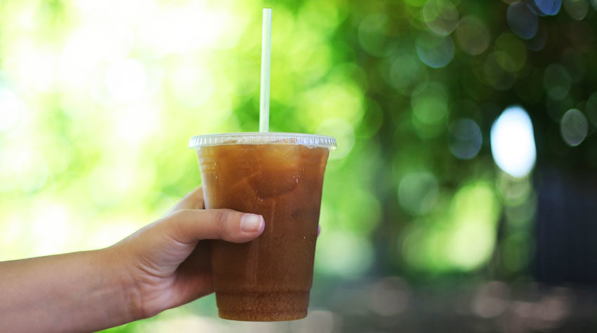 Plastic straw, takeaway cup, List of things that can't be recycled. Not in the blue bin. What you can recycle. By Awake Organics, UK.
