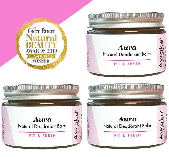 Aura Natural Deodorant   Plastic Free   Aluminium Free   Buy 3, Save 10%   Awake Organics