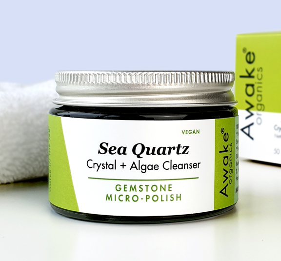plastic free Sea-Quartz-Natural-Vegan-Cleanser-crystal-exfoliating-scrub-awake-organics-zero waste
