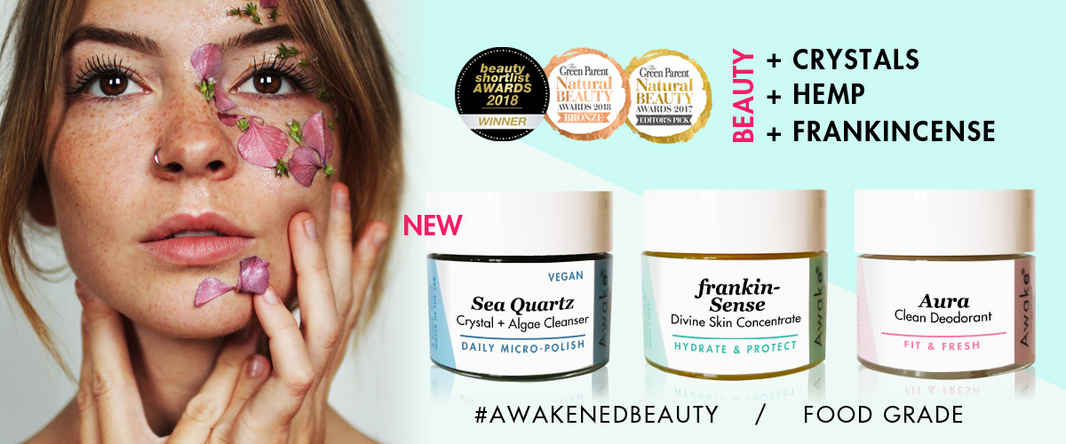 Natural | Organic | Hemp | Frankincense | Skin Care Brand UK | Awake Organics | Slider Image