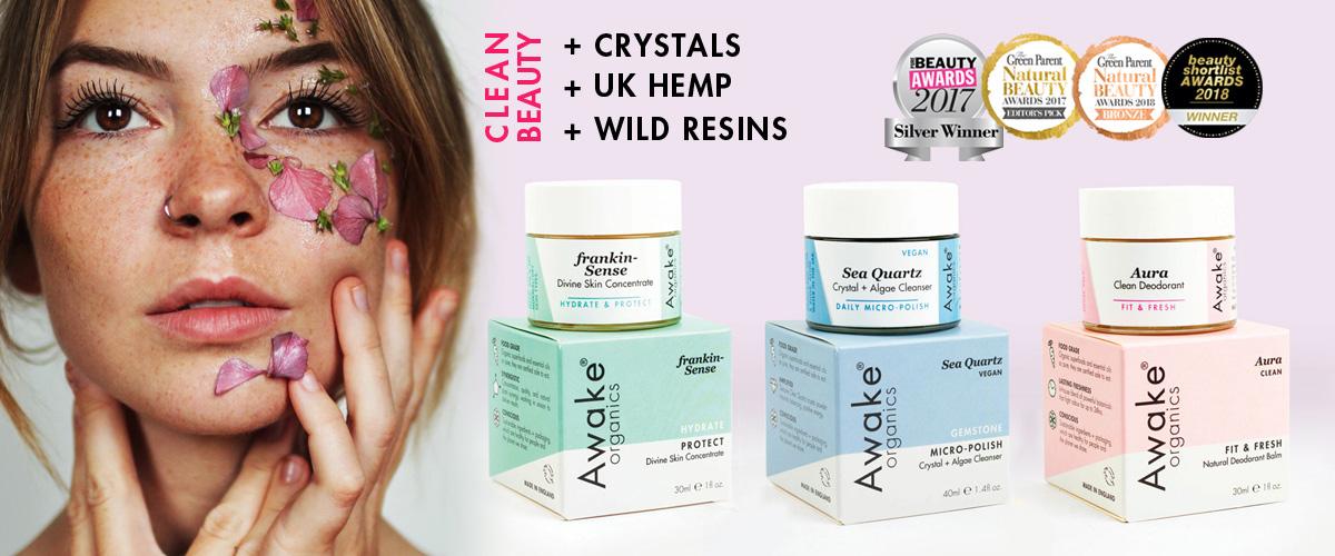 Awake Organics | Natural Organic Skin Care Brand UK | Made With Hemp | Frankincense | Crystals