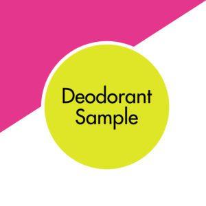 bicarb free natural deodorant UK | vegan and plastic free | aluminium free deodorant | paraben free | awake organics | natural skin care brand UK | sample image