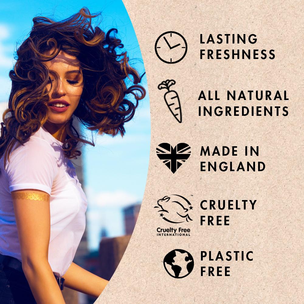 Natural Deodorant | Plastic Free | Probiotic | Aluminium Free | zero waste UK | vegan | Space Cat | Certifications