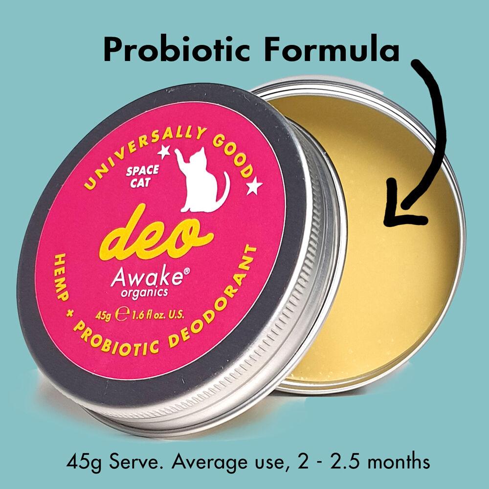 Natural Deodorant | Plastic Free | Probiotic | Aluminium Free | zero waste UK | vegan | Space Cat | Probiotic