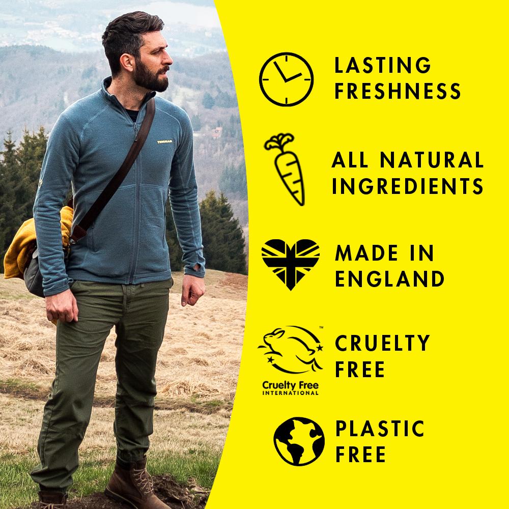 Plastic Free natural deodorant UK | Moon Goo | Aluminium Free | Cruelty Free | Awake Organics | features