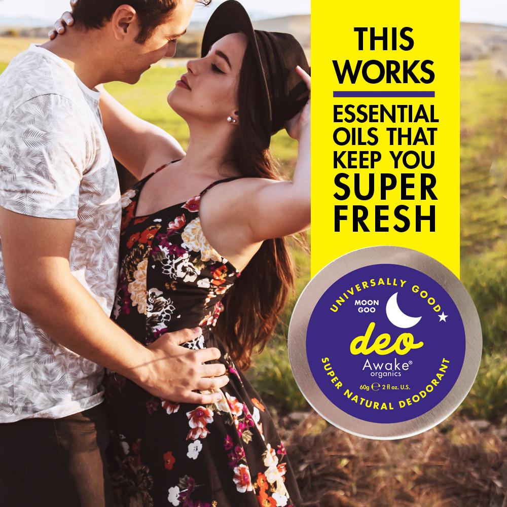 Plastic Free natural deodorant UK   Moon Goo   Aluminium Free   Cruelty Free   Awake Organics   That works
