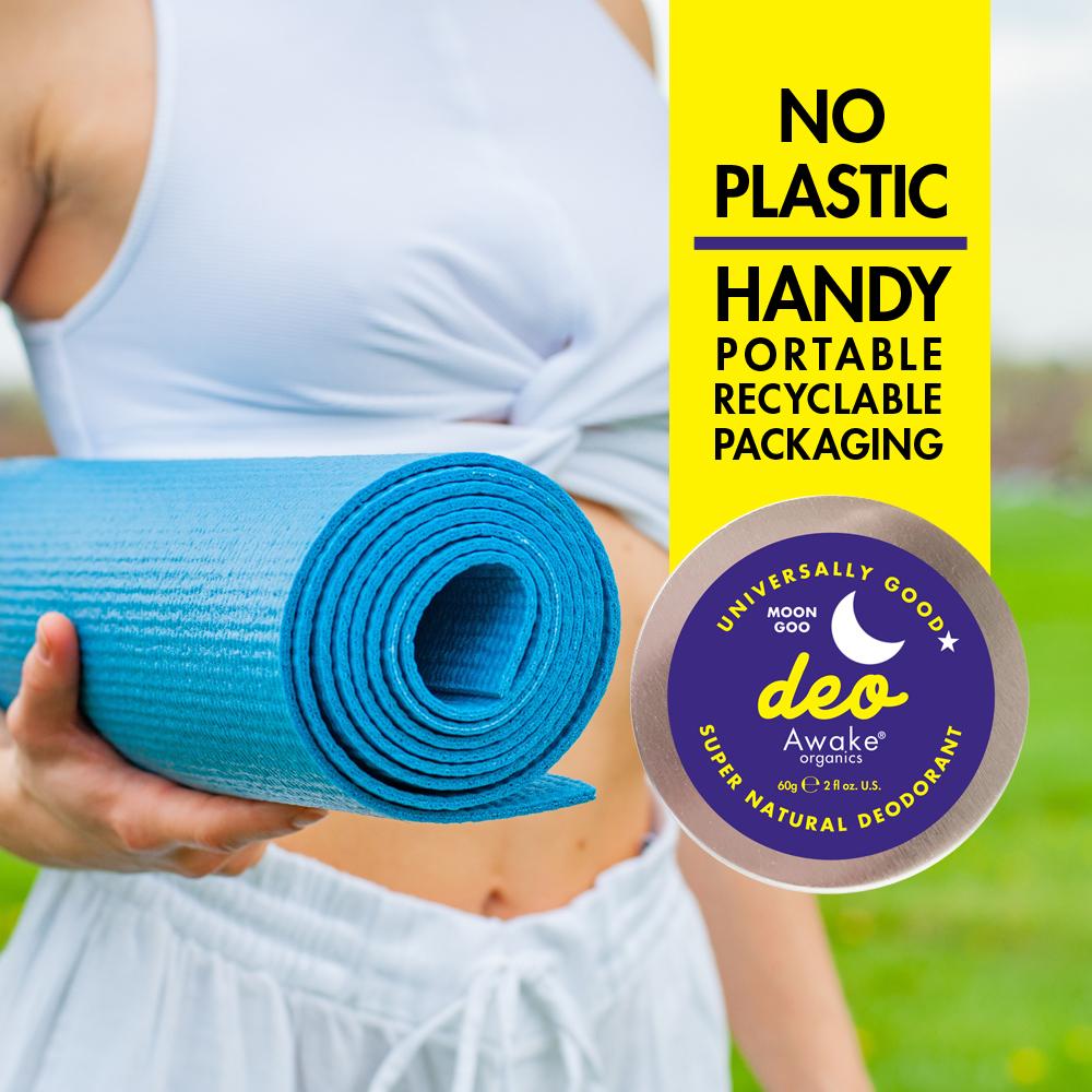 Plastic Free natural deodorant UK   Moon Goo   Aluminium Free   Cruelty Free   Awake Organics   soft texture
