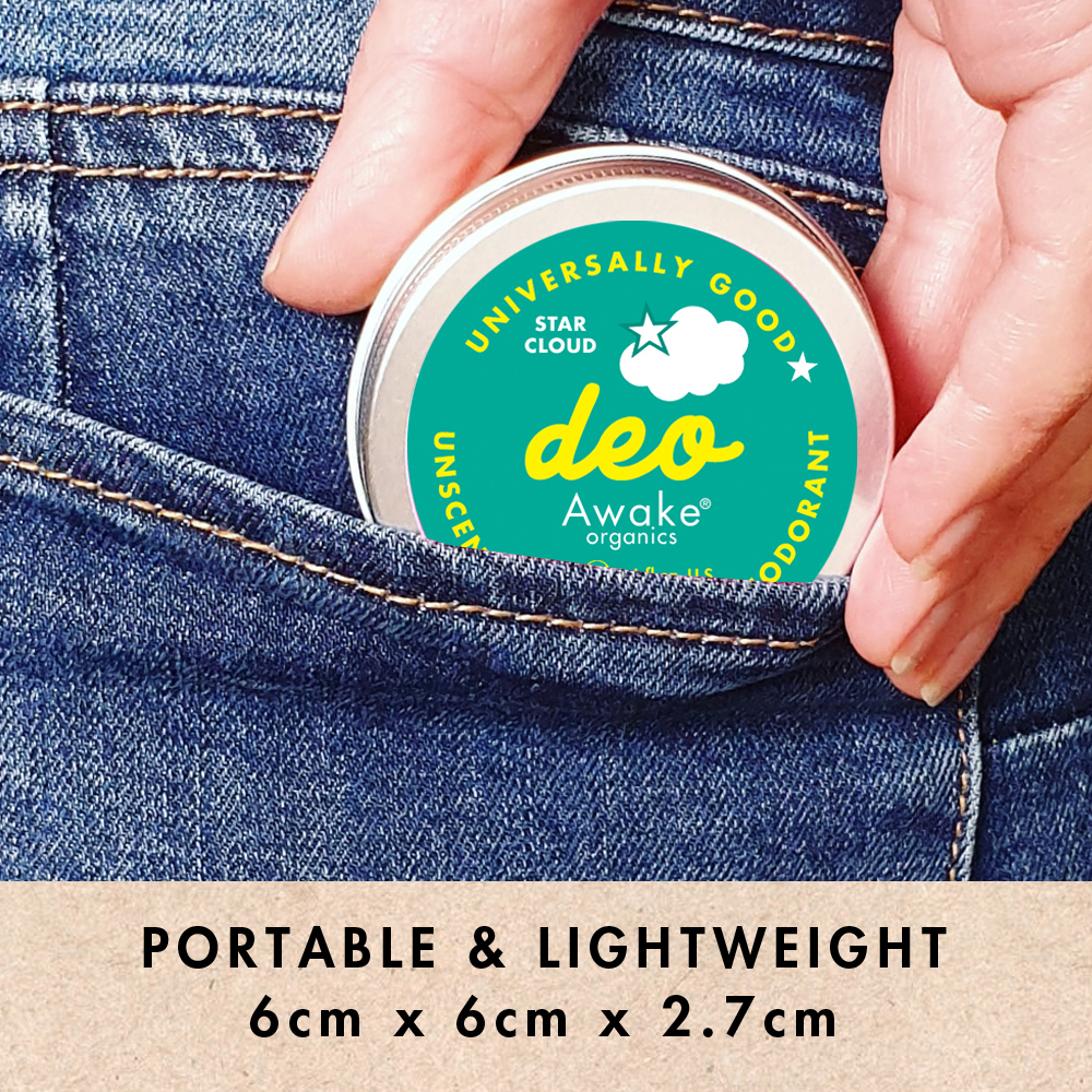 Plastic Free natural Deodorant Unscented Star Cloud   Portable