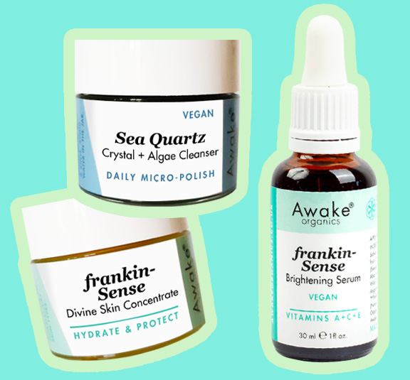 Glowing Skin Treatment | Sea Quartz + Choose Your Serum: Frankin-Sense Brightening