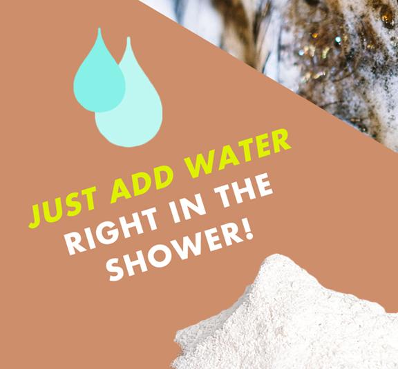 Plastic free shampoo natural vegan no sls with caffeine and rosemary by awake organics