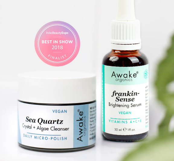 Vegan Beauty Kit | Sea Quartz + Choose Your Serum: Brightening or Citrus & Hemp. Image 2