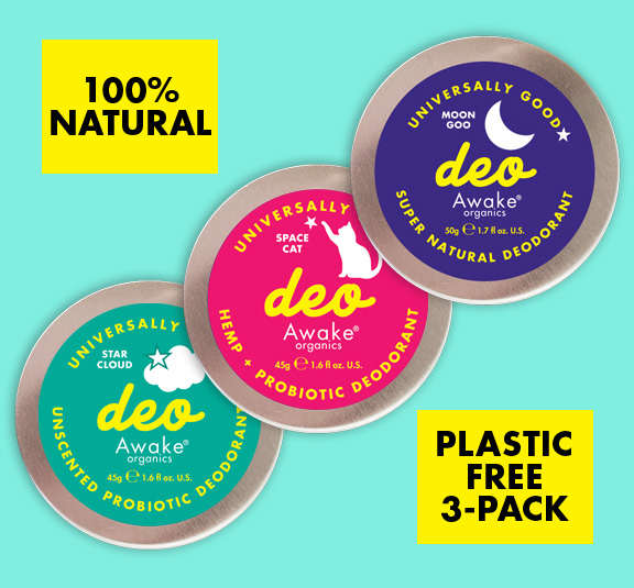 plastic free deodorant uk natural probiotic awake organics