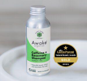 natural hair growth shampoo caffeine rosemary plastic free awake organics