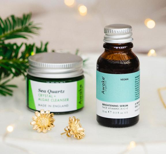 3 step system mini christmas gift idea plastic free by awake organics brightening serum