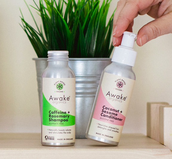 Natural Hair Growth Coconut Sesame Conditioner Awake Organics