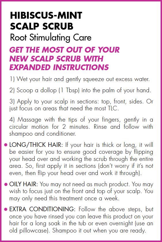 Natural Hair Growth Scalp Scrub Hibiscus Mint Awake Organics